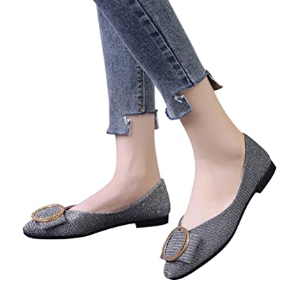 e7255e50cfa9 Amazon.com  Women Office Flats Boat Sandals Low Heel Flat Shoes Wedge  Slippers Hemlock (US 8