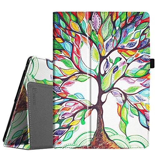 Fintie Case for Lenovo Tab 4 10 / Lenovo Tab 4 Plus 10 / AT&T Lenovo Moto Tab 10.1-Inch Tablet - Premium PU Leather Folio Cover with Auto Sleep/Wake, Love Tree