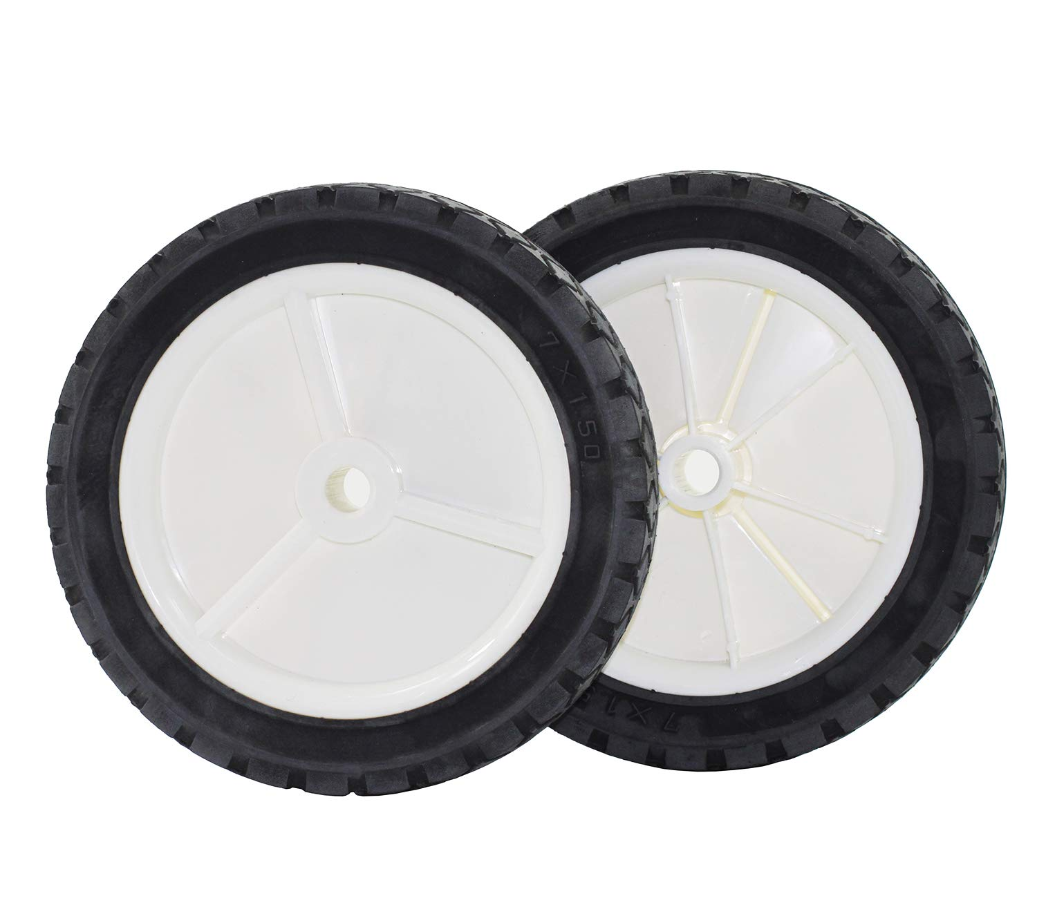 Antanker Replacement Hand Trucks Lawnmower Grill Wheel 7-inch 2 Pack