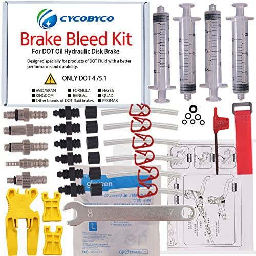 Cycobyco Brakes-entlüftungsset for Mineral oil brake//hydraulic discs