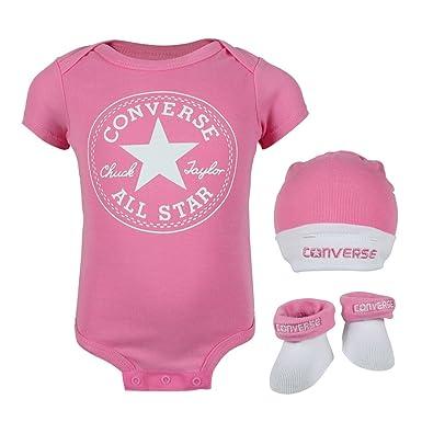 Converse bebé 3 pack gorro body calcetines con caja de regalo pink: Amazon.es: Ropa y accesorios