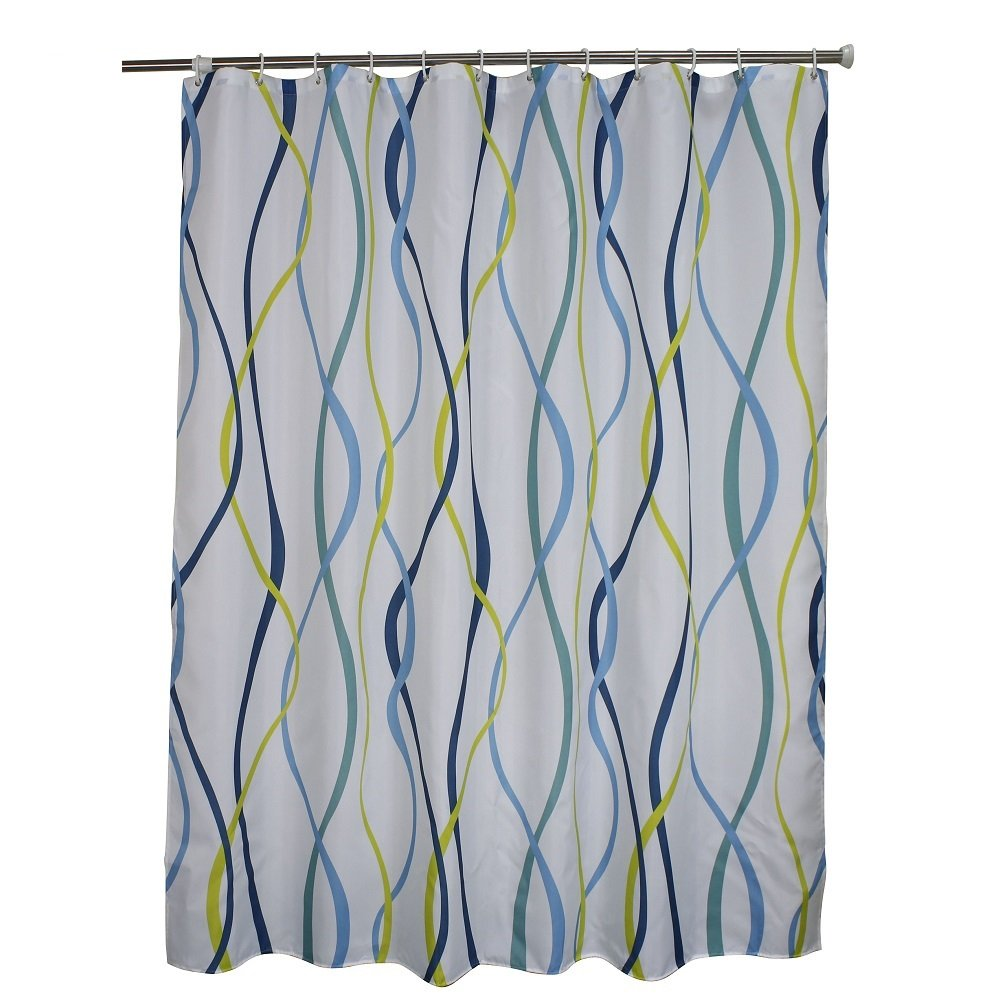 Ufaitheart Fabric Extra Wide Shower Curtain 108 X 72 Inch Abstract Leaves Pattern Fashion Bathroom