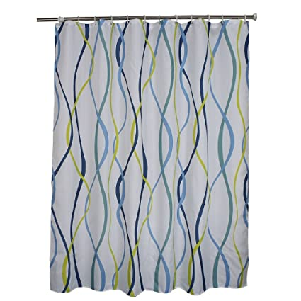 Ufaitheart Modern Wavy Stripes Shower Curtain 72 X Inch Water And Mould Resistant Fabric