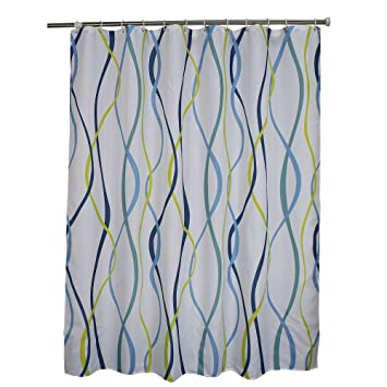 Charmant Ufaitheart Fabric Shower Curtain 96u0026quot; X 72u0026quot; Extra Wide Shower  Curtain Modern Wavy Stripe