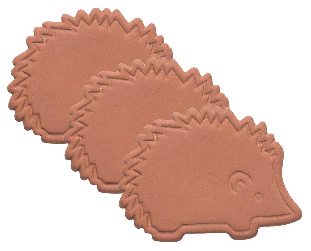 Now Designs Terracotta Brown Sugar Saver, Set of Three, Hedgehog