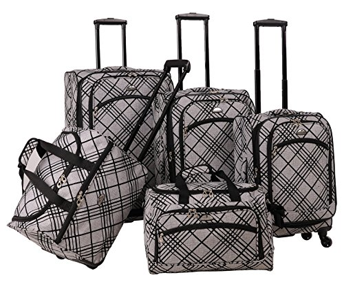 american-flyer-silver-stripes-5-piece-spinner-luggage-set-silver-one-size