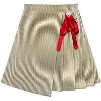 Sunny Fashion Meninas Saia Plissado Manta Saia Preto Branco De volta à escola Uniforme 6-14 anos