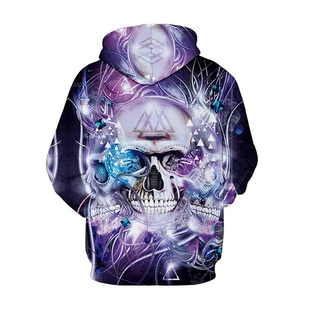 Amazon.com: Purple Shining Skull Hoodies Floral 3D Hoodie Sweatshirt Pullover Tracksuit Men Women Hooded Tops: Clothing