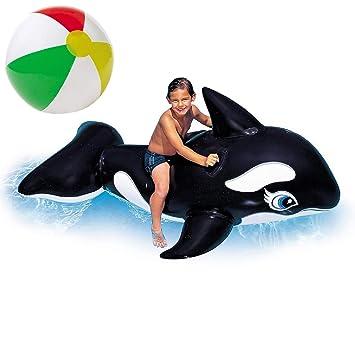 Inflador hinchable de equitación animal ballena XL Ride On ...