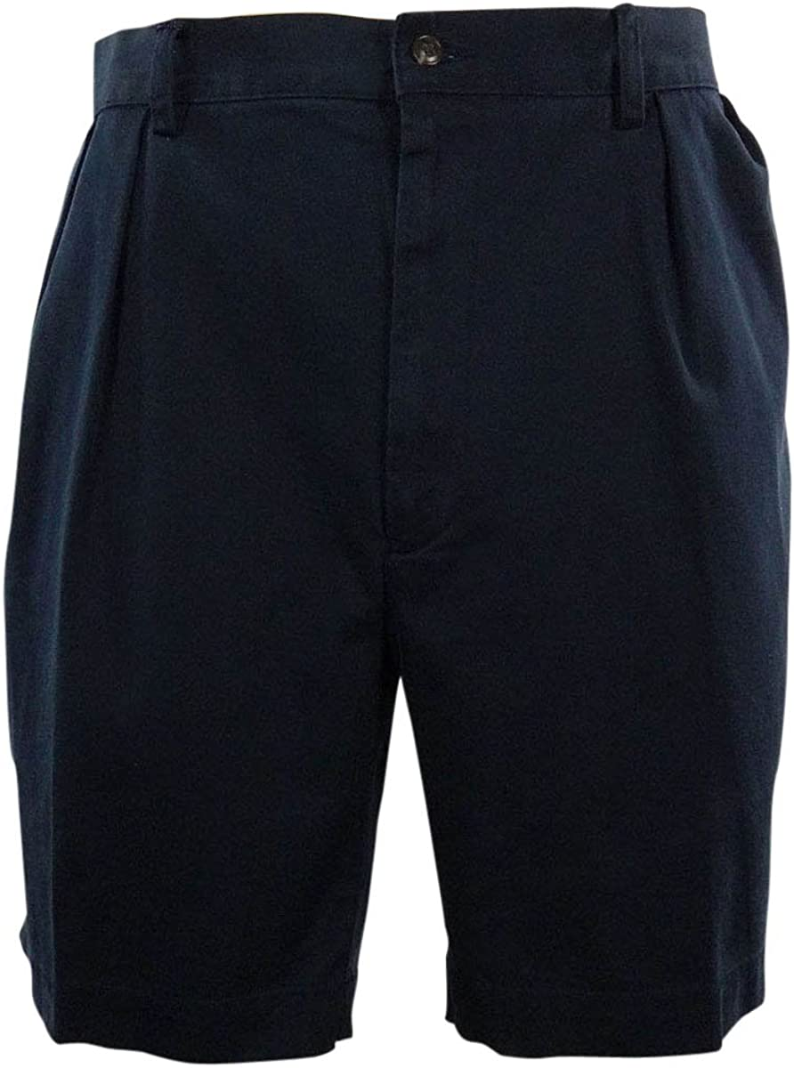 Polo By Ralph Lauren Mens Pleated Casual Shorts 46B-Navy