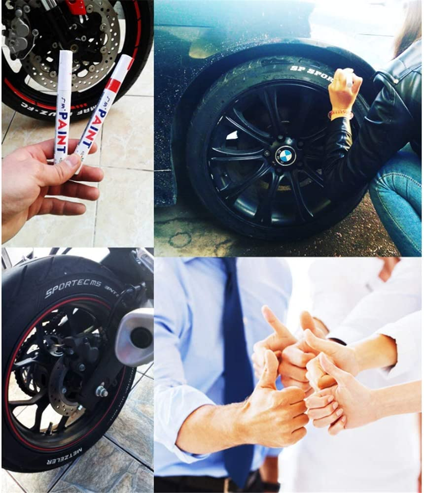 12x Universelle Wasserdichte Permanent Farbe Textmarker Auto Reifen Gummi Metall