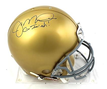 "c4bfbe46632 Joe Montana Signed Notre Dame Fighting Irish Riddell Authentic Helmet  with""Go Irish"" Inscription"