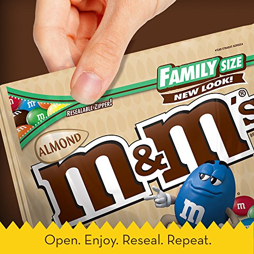 M&M'S Almond Chocolate Candy Family Size 15.9-Ounce Bag (Pack of 8) by M&M'S (Image #2)