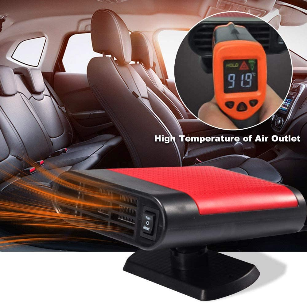 Serria/® Autoheizung Mit 360 /° drehbare Halterung Tragbare Auto Keramikk/ühlung Heizl/üfter Heizung Defroster Demister 12 V 150 Watt