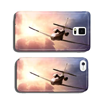 Private Jet Plane In The Sky At Sunset Cell Phone Cover Amazonco