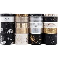 Washi Tapes Set Lychii 20 rollen goud stempelen maskeerbanden, multi-patroon decoratieve tape ambachtelijke…