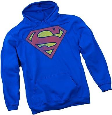 Superman Distressed Shield DC Comics Licensed Adult Pullover Hoodie