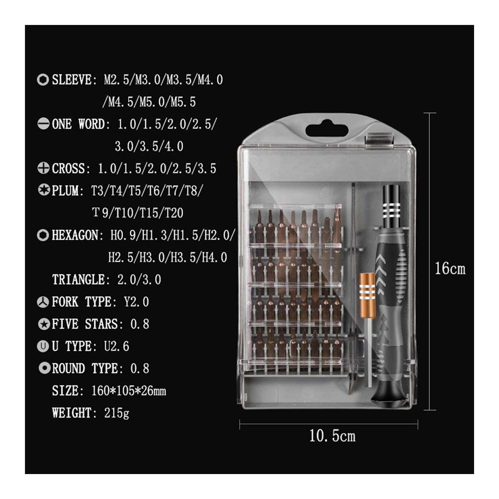for Mobile Phone Computer Electrical Appliance Size 16x10.5x2.6cm Silver Professional Repair Anti Slip Extension Bar 41 in 1 Screwdriver Set