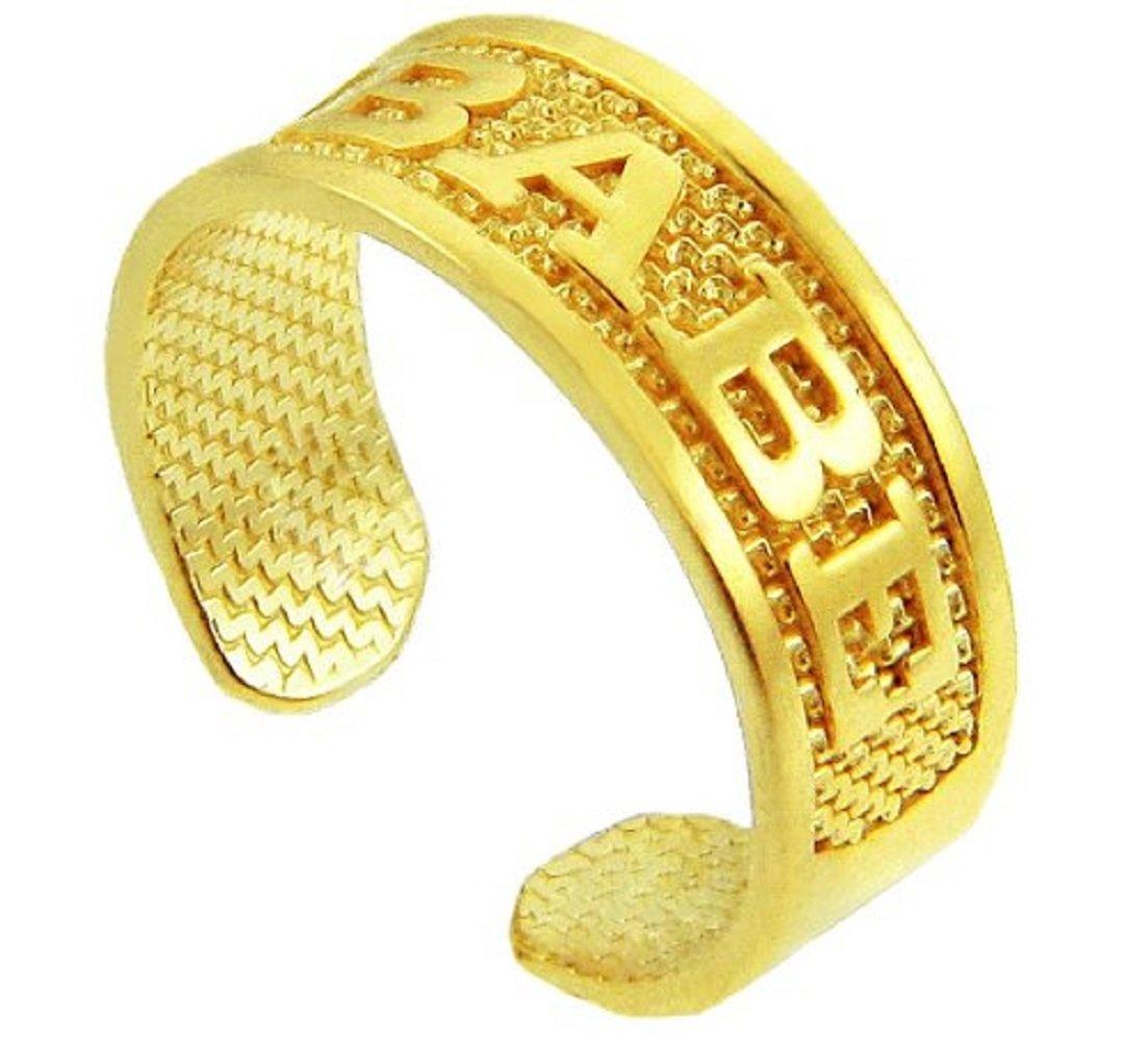 14k Gold ''BABE'' Toe Ring