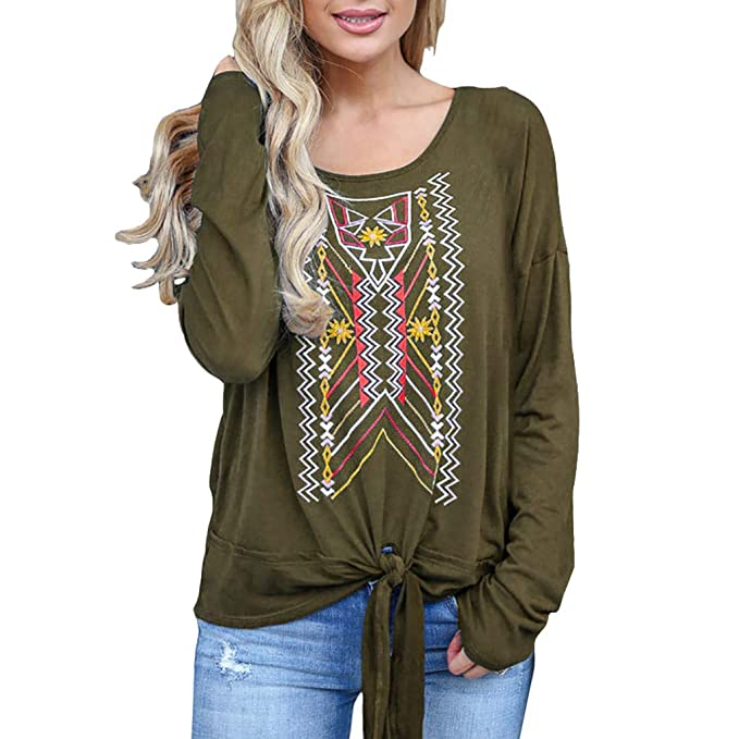 2b3066358a5bb0 Kstare Fashion Women Long Sleeve Shirt Loose Casual Tunic Sweatshirt ...