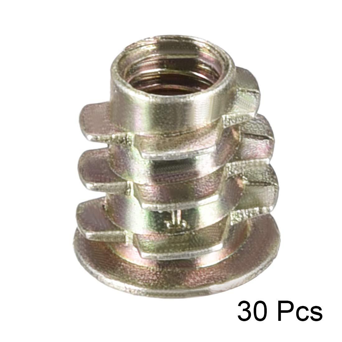 uxcell Threaded Insert Nuts Zinc Alloy Hex Socket M4 Internal Threads 8mm Length 50pcs a18071100ux0194