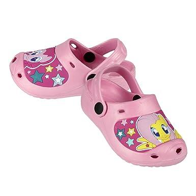 e28544b526ee My Little Pony Girls Pink Clogs Sandals Beach Mules Kids (Size 32)   Amazon.co.uk  Clothing