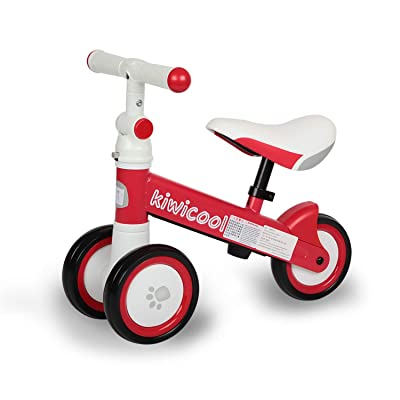 Diroan Baby Balance Bike, Kids Walker Push Bicycle for 1 2 3 Year Old Boys Girls, Toddler Bike Riding Toys for 9 Months - 24 Months First Bike Birthday Gift (Red): Toys & Games