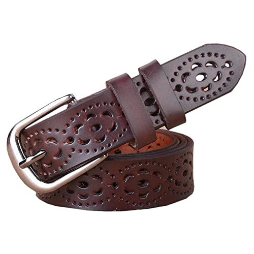 1 Pieza Mujer Cinturón Hueco Ajustable Cintura Retro Flor Estilo Simple Ropa Accesorio