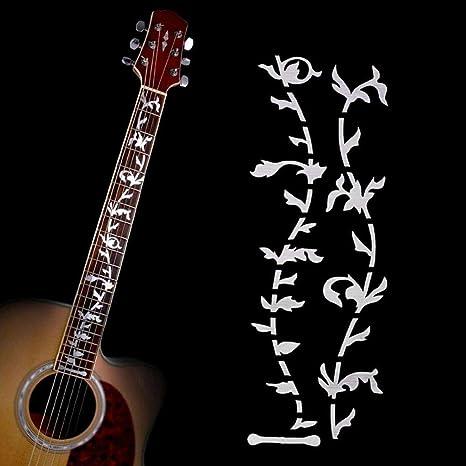 Bobury Árbol de la Vida Música Guitarra eléctrica acústica Cuello fácil Utilizar Pegatinas Guitarra Bricolaje Accesorios: Amazon.es: Hogar