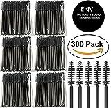 ENVII – The Beauty Brand 300PK Black Disposable Eyelash Mascara Wands Brushes Applicators Makeup Artists Kits