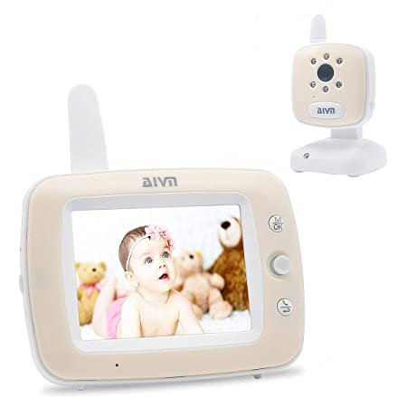 AIVN Baby Monitor with Camera and Audio, 3.5 LCD Display, Infrared Night Vision, Two Way Talk Back,Temperature Monitoring, Lullabies and Long Range