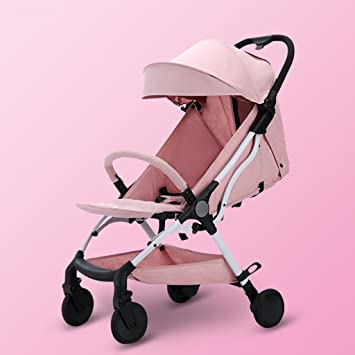 JIANXIN Los Cochecitos para Bebés Se Pueden Sentar con Pequeños Cochecitos De Bebé Plegables Y Plegables. (Color : Pink): Amazon.es: Hogar