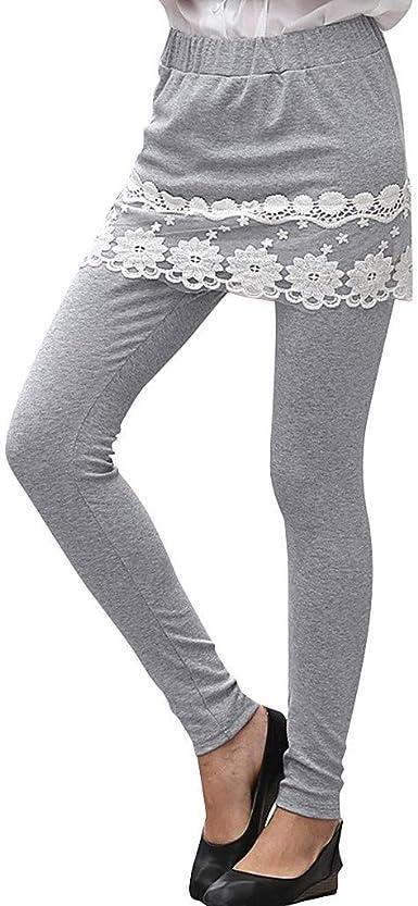 Vectry Moda Mujer Encaje Falda Floral Pantalones Correr Damas ...