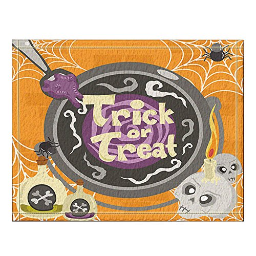 NYMB Witch cCooking Magical Potion and Spell for the Halloween Bath Rugs, Non-Slip Floor Entryways Outdoor Indoor Front Door Mat,60x40cm Bath -