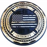 Thin Gold Line Distress Flag Honor, Professionalism, Commitment, Integrity Dispatcher's Prayer Challenge Coin - Pack of 12