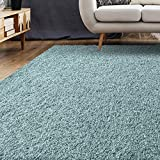 iCustomRug Bella Shag Rug – Luxurious & Thick Seafoam Soft & Shaggy Double Textured Fiber for a Modern Home Decor, 5′ X 7′, Green Review