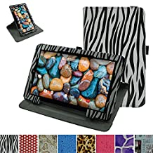 """RCA 10 Viking Pro 10.1 Rotating Case,Mama Mouth 360 Degree Rotary Stand With Cute Lovely Pattern Cover For 10.1"""" RCA 10 Viking Pro Tablet,Zebra Black"""