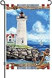 Premier 51096 Garden Illuminated Flag, Nautical Lighthouse, 12 by 18-Inch