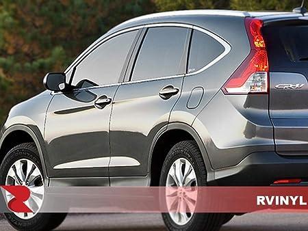 Aluminum Brushed Black Rvinyl Rtrim Pillar Post Decal Trim for Honda Odyssey 2011-2015