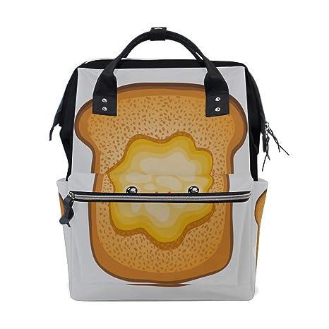 Pan tostado Desayuno de dibujos animados lindo Bolsas de ...