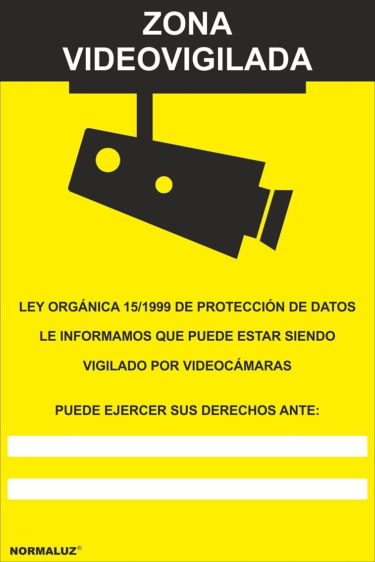 Normaluz RD30942 - Señal Zona Videovigilada Aluminio 0,5 mm 21x30 cm