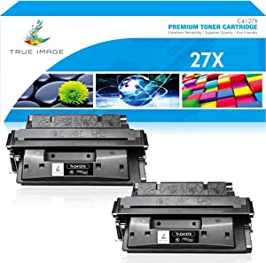 True Image Compatible Toner Cartridge Replacement for HP 27X C4127X C4127A 27A Laserjet 4050 4050N 4050TN 4000N 4000T 4000TN 4050DN 4000SE 4050SE (Black, 2-Pack)