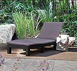 WestWood Rattan Day Chair Recliner Sun Bed Lounger Wicker Outdoor Garden Furniture Terrace Patio Grey SRL02