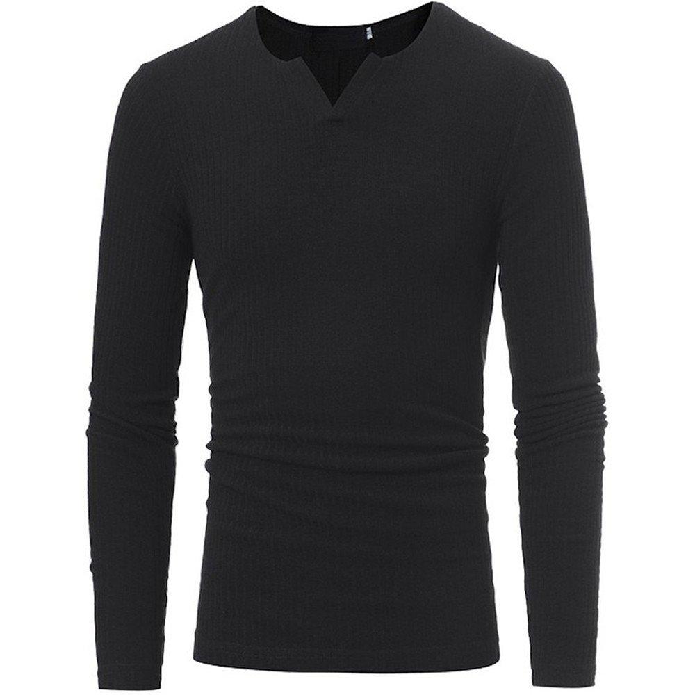 Jdfosvm männer im gestreiften Pullover Kragen gestreiften Pullover Pullover Stretch - v,schwarz,l