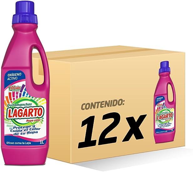 Lagarto Quitamanchas Liquido - Paquete de 12 x 1000 ml - Total: 12000 ml: Amazon.es: Salud y cuidado personal
