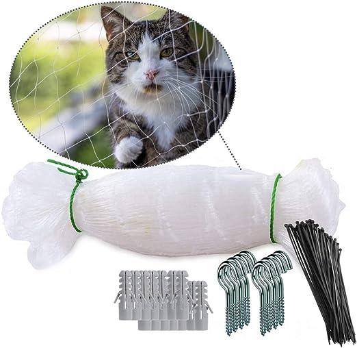 NEEZ Red para Balcones y Ventanas I Red de Seguridad Transparente Incl. Kit de fijación I fijación de la Red de Seguridad para Balcones sin taladrar: Amazon.es: Productos para mascotas