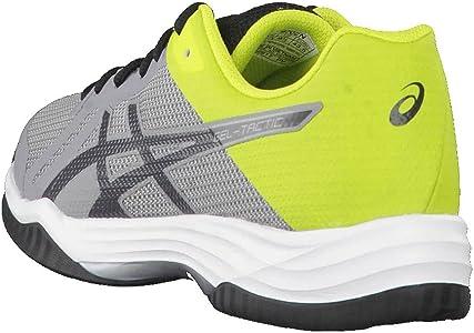 Asics Gel-Tactic, Zapatillas de Voleibol para Hombre, Plateado (Aluminum/Dark Grey/Energy Green), 42 EU: Amazon.es: Zapatos y complementos
