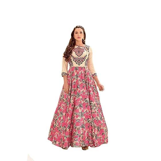 Designer Indian Women Dress Gown Anarkali Salwar Kameez Suit ...