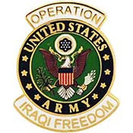 amazon com u s army logo operation iraqi freedom pin 1 sports rh amazon com indian army logo pictures us army logo pictures