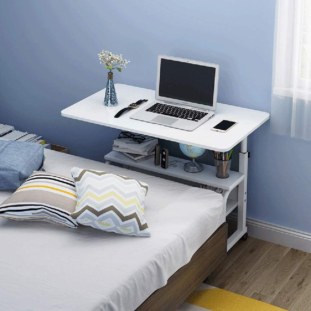 RKRXDH Pflegetisch Multifunktion H/öhenverstellbar Zweilagig Geeignet F/ür Schlafzimmer Und Wohnzimmer Color : Blue, Size : 60x40x69-90cm